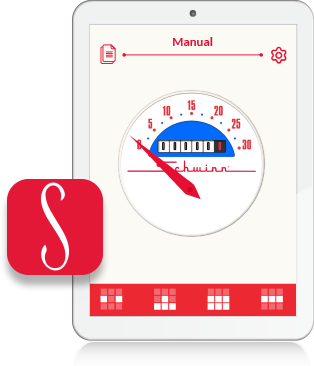 tablet showing app